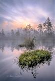Autumn sunset lake finland