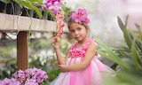 Little girl-orchid photography