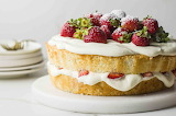 ^ Strawberry Angel Food Cake