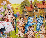 country house cats, Louis Wain
