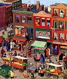Street Scene - New Yorker Magazine vintage art