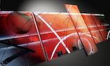 Tableau moderne  rouge metal