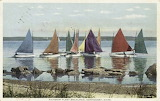Rainbow Fleet Becalmed, Nantucket, Mass.