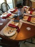 Snowmen on the table