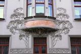 Praha, Hotel Central, détail, cz art nouveau