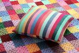 Striped cushion colorful