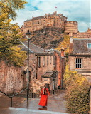 The Vennel Steps Edinburgh Scotland