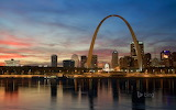 St. Louis skyline and Gateway Arch. Missouri