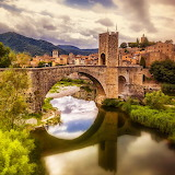 Besalu Catalonia, Spain...