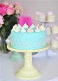 Blue meringue cake