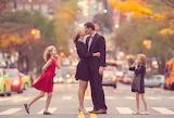 POTW, family, road, kissing, children