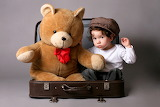 Teddy bear Suitcase Boys Baseball cap Sitting 543303 1280x853