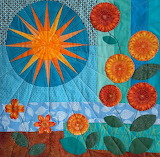 Sun and flowers patchwork