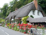 ^ Thatched roof cottage, Wherwell, Hampshire, England ~ 2009 Cha