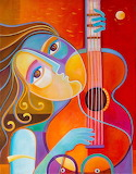 girl with a guitar, Marlina Vera