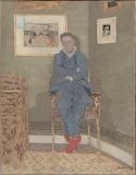 E. Vuillard, portrait de Félix Vallotton, ca 1900