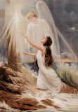Girl and angel Through Faith to Light by Alexander Rosell