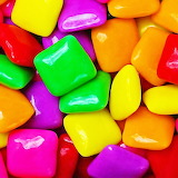 #Colorful Fruity Chicklet Gum