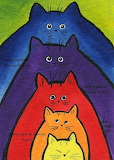 Five Cats by Denise Every