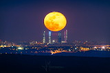 """Space NASA """"Four Towers and the Equinox Moon"""""""