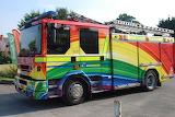 Rainbow fire engine