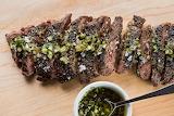 Flank Steak with Chimichurri sauce. ...