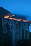 Bixby Creek Bridge Big Sur California at night