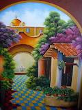 Colorful patio - Ma Heriberta Vega Coronel