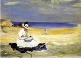 Charles Conder, The Shore at Dornoch, 1896