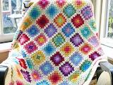 Crochet blanket Beautiful squares