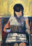Richard Diebenkorn, Woman with Newspaper, 1960