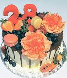 Flowery drip cake