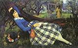 Leon Kroll, Girl in a Hammock, Date unknown