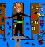 hombre Cat I les lletres caigudes - rompecabezas en línea - 42 piezas