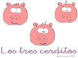 LOS TRES CERDITOS  - 12 PIEZAS