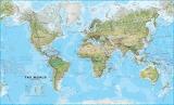 Mapa físico del mundo - online jigsaw puzzle - 40 pieces
