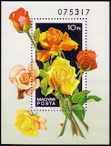 Roses on stamps 01 - online jigsaw puzzle - 42 pieces