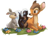 Bambi-Flower-Thumper - online jigsaw puzzle - 20 pieces