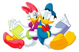 daisy_duck_and_donald_duck-4921 - online jigsaw puzzle - 12 pieces