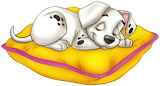 Disney-101-Dalmation-sleeping-pillow-1 - online jigsaw puzzle - 21 pieces