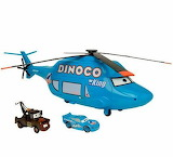 Cars-Dinoco-Hellicopter - online jigsaw puzzle - 20 pieces