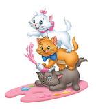 Aristocats-Paint-Pallet - online jigsaw puzzle - 9 pieces