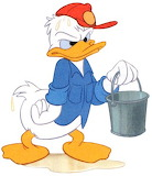 Donald-Duck-wet - online jigsaw puzzle - 9 pieces