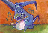 el-burro-flautista - online jigsaw puzzle - 20 pieces