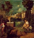 Giorgione La Tempesta - online jigsaw puzzle - 80 pieces
