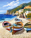 AG4251~Spiaggia-dei-Pescatori-Posters - online jigsaw puzzle - 42 pieces