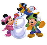 snowman-mickey - online jigsaw puzzle - 9 pieces