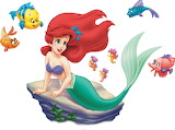 ariel-fish-friends - online jigsaw puzzle - 12 pieces