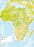 Mapa físico de África - online jigsaw puzzle - 40 pieces