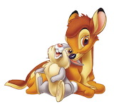bambi_and_thumper-4911 - online jigsaw puzzle - 9 pieces